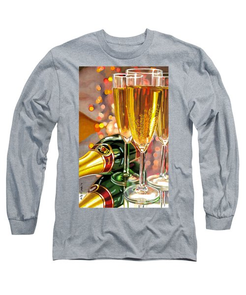 Champagne Wishes Long Sleeve T-Shirt