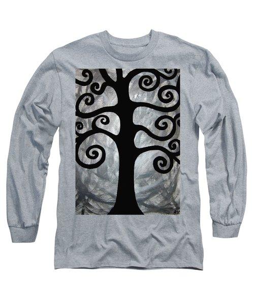 Chaos Tree Long Sleeve T-Shirt by Angelina Vick