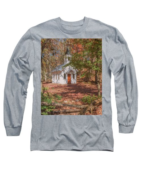 Chapel In Woods At Red Mill 3 Long Sleeve T-Shirt
