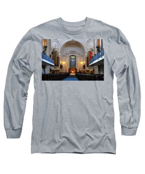 Chapel Interior - Us Naval Academy Long Sleeve T-Shirt