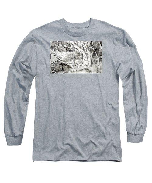 Charcoal Copse Long Sleeve T-Shirt