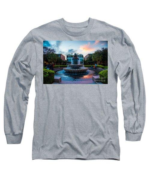 Charleston Pineapple Sunset Long Sleeve T-Shirt by Robert Loe