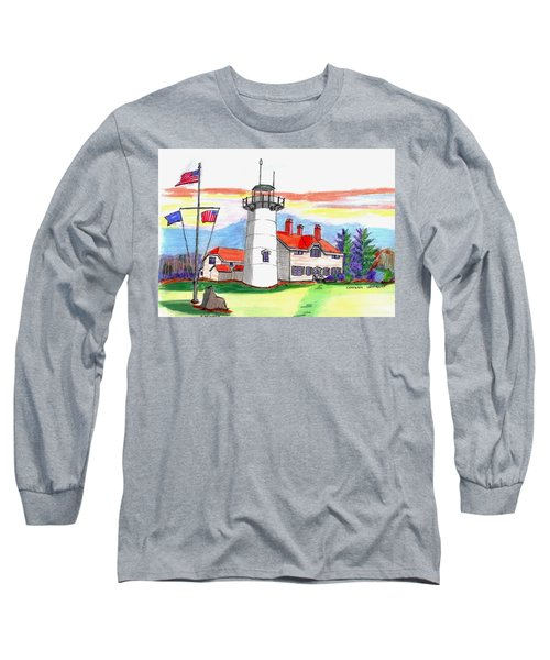 Chatham Lighthouse Long Sleeve T-Shirt by Paul Meinerth
