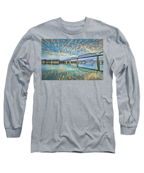 Chattanooga Has Crazy Clouds Long Sleeve T-Shirt by Steven Llorca