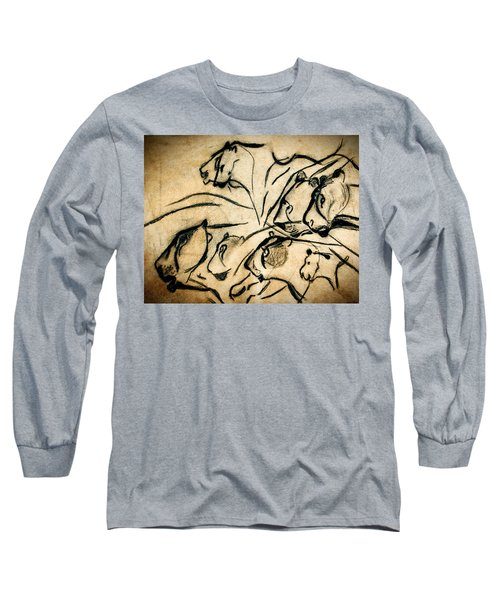 Chauvet Cave Lions Long Sleeve T-Shirt