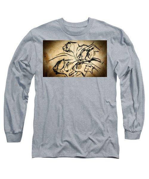 Chauvet Cave Lions Long Sleeve T-Shirt