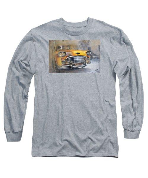 Checker Taxi Long Sleeve T-Shirt by Vali Irina Ciobanu