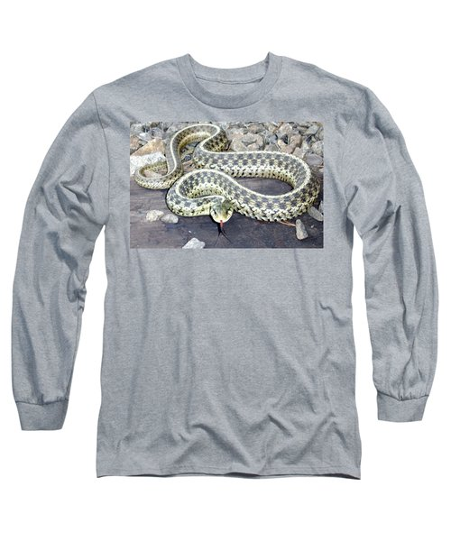 Checkered Garter Snake Long Sleeve T-Shirt