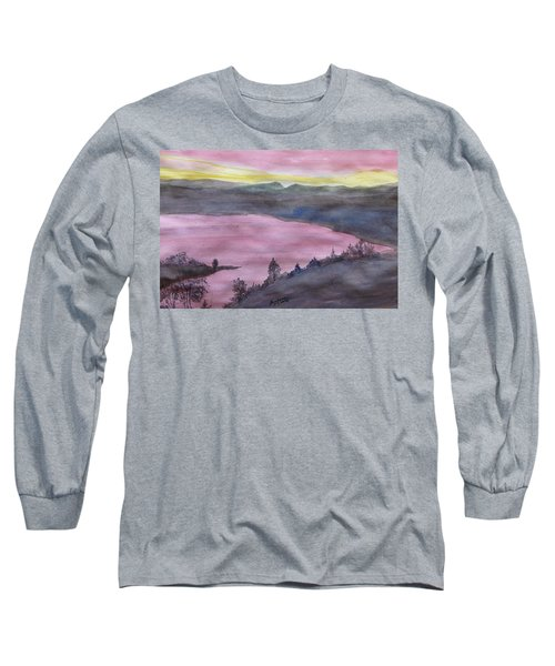 Long Sleeve T-Shirt featuring the painting Cherokee Lake - Watercolor Sketch  by Joel Deutsch