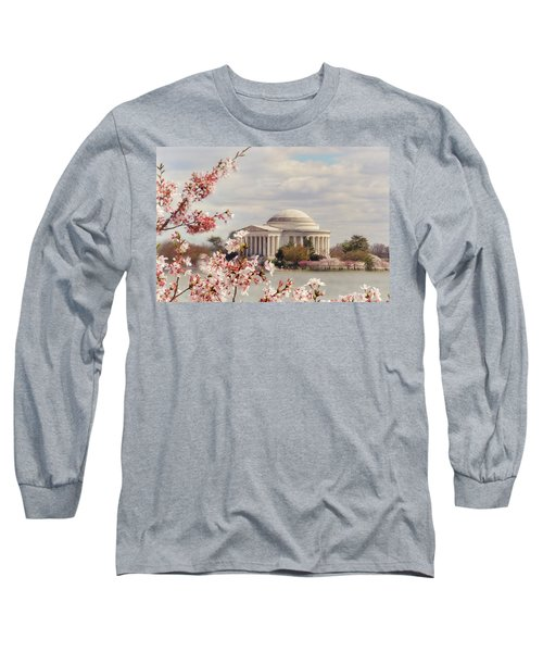 Cherry Blossom And Jefferson Long Sleeve T-Shirt