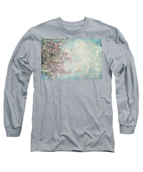 Long Sleeve T-Shirt featuring the photograph Cherry Blossom Dreams by Linda Lees