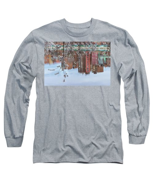 Cherry Blossom Reflections Long Sleeve T-Shirt