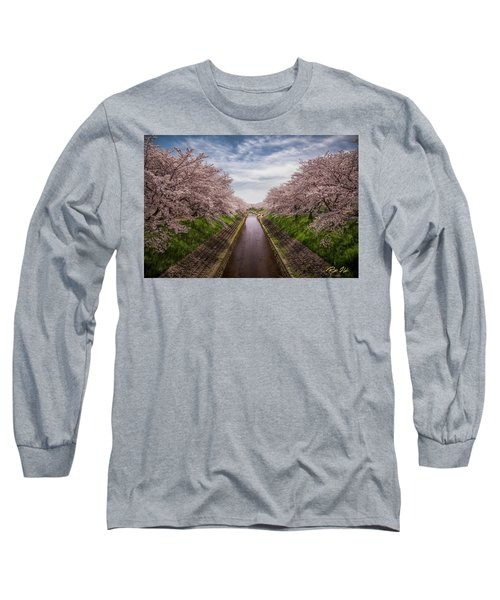 Long Sleeve T-Shirt featuring the photograph Cherry Blossoms In Nara by Rikk Flohr