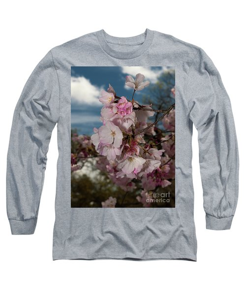 Cherry Blossoms Vertical Long Sleeve T-Shirt