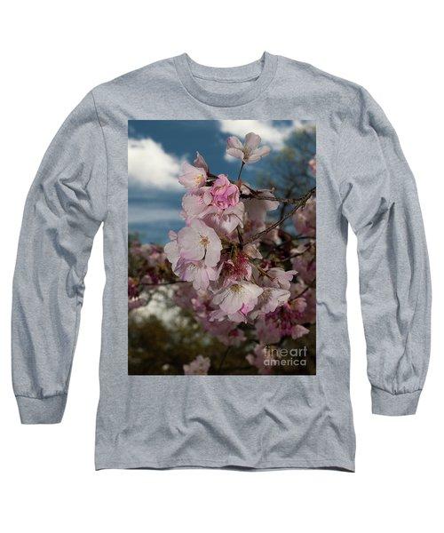 Cherry Blossoms Vertical Long Sleeve T-Shirt