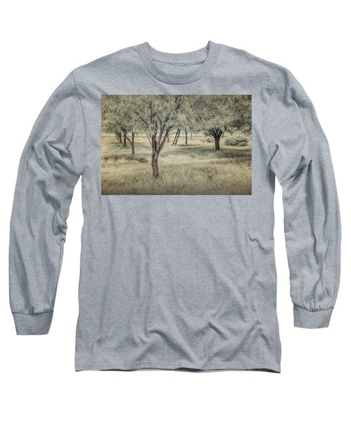 Cherry Orchard In Infrared Long Sleeve T-Shirt