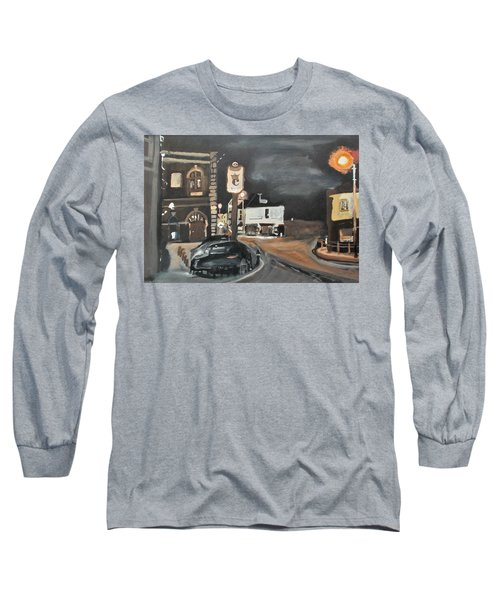 Chertsey At Night 1 Long Sleeve T-Shirt by Carole Robins