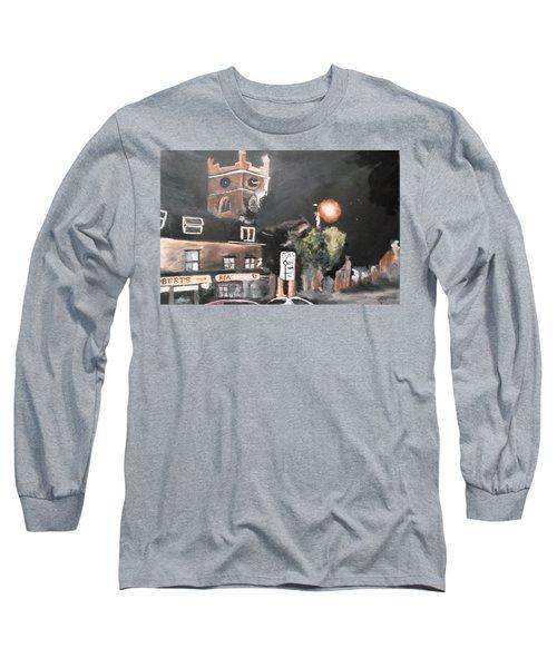 Chertsey At Night 2 Long Sleeve T-Shirt by Carole Robins