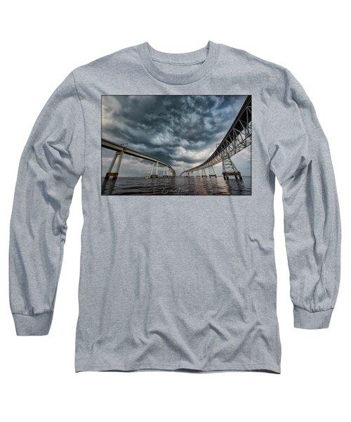 Chesapeake Bay Bridge Storm Long Sleeve T-Shirt