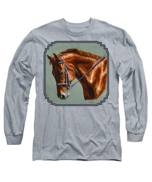 Chestnut Dressage Horse Phone Case Long Sleeve T-Shirt
