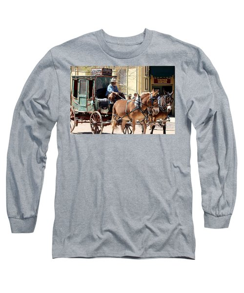 Chestnut Horses Pulling Carriage Long Sleeve T-Shirt