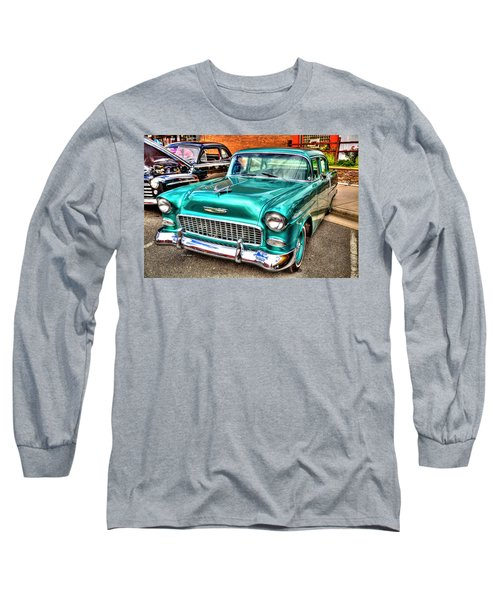 Chevy Cruising 55 Long Sleeve T-Shirt by Dale R Carlson