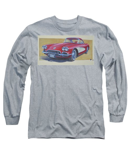 Long Sleeve T-Shirt featuring the drawing Chevy by Mike Jeffries