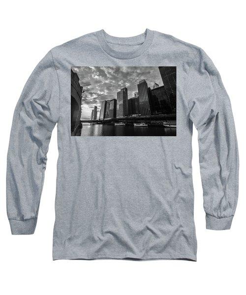 Chi Sunrise Black And White Long Sleeve T-Shirt