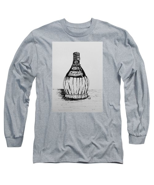 Chianti Bottle Long Sleeve T-Shirt by Victoria Lakes