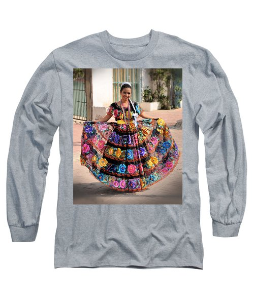 Chiapaneca Dress Long Sleeve T-Shirt by Jim Walls PhotoArtist