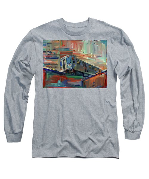Chicago City Train Long Sleeve T-Shirt