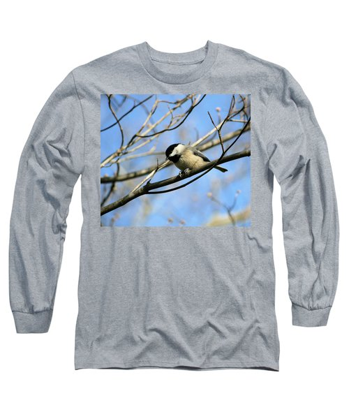 Long Sleeve T-Shirt featuring the photograph Chickadee by Cathy Harper