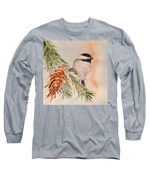 Chickadee In The Pine Long Sleeve T-Shirt