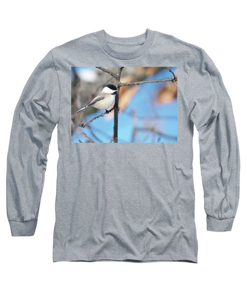 Chickadee Long Sleeve T-Shirt by Michael Peychich