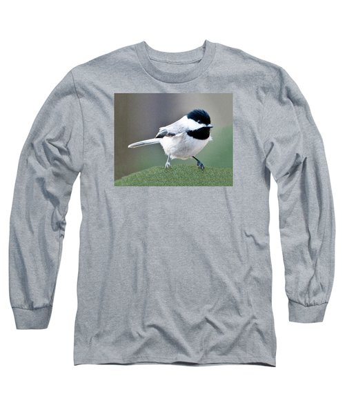 Chickadee Profile Perched 944 Long Sleeve T-Shirt