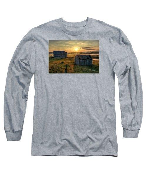 Chicken Creek Schoolhouse Long Sleeve T-Shirt by Fiskr Larsen