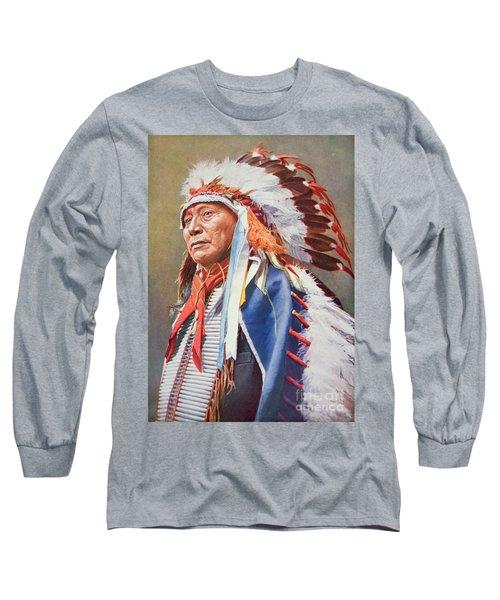 Chief Hollow Horn Bear Long Sleeve T-Shirt