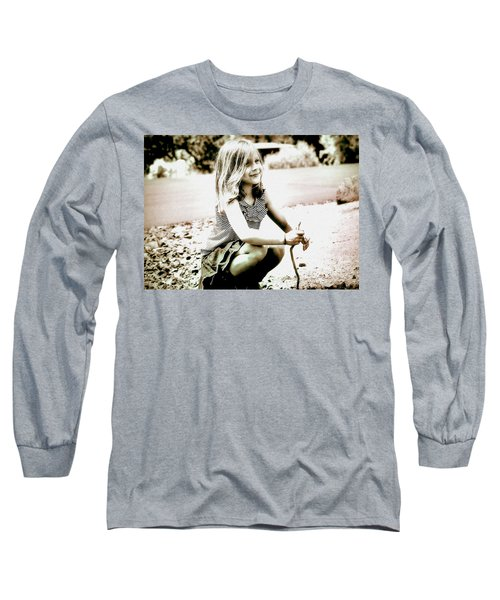Long Sleeve T-Shirt featuring the photograph Childhood Memories by Barbara Dudley