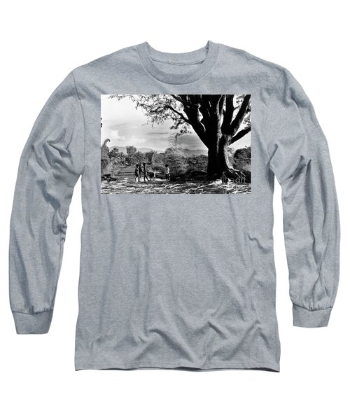 Children Of Central Highland Are Playing With A Dog Long Sleeve T-Shirt