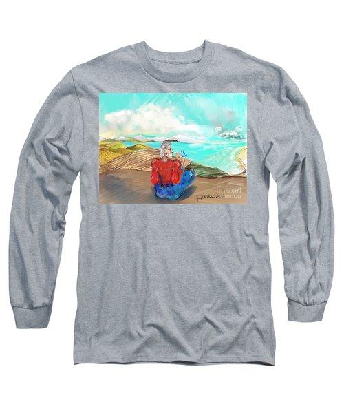 Chillin' Caricature Joe Long Sleeve T-Shirt
