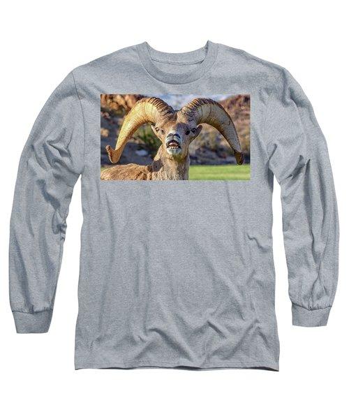 Chin Down Long Sleeve T-Shirt
