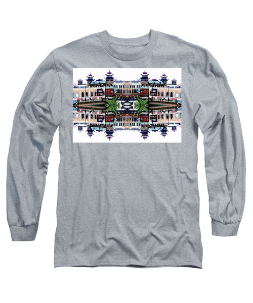 Chinatown Chicago 2 Long Sleeve T-Shirt by Marianne Dow