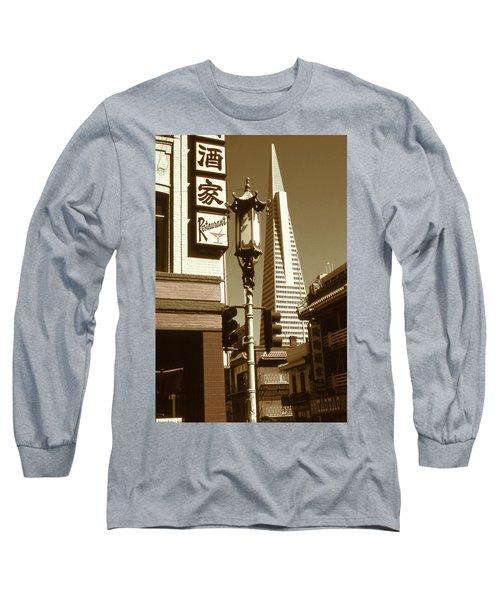 Chinatown San Francisco - Vintage Photo Art Long Sleeve T-Shirt