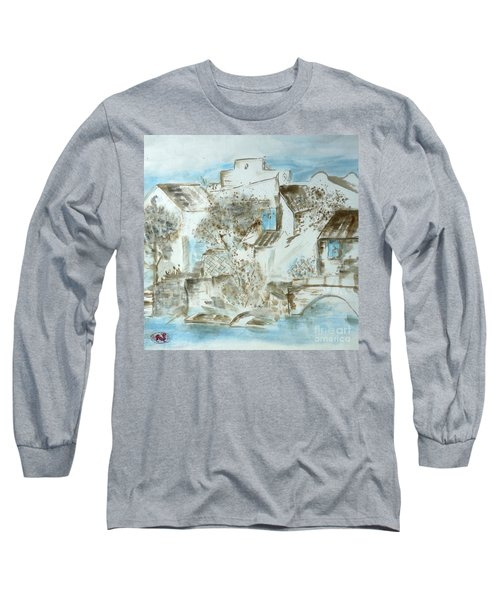 Chinese Water Town Long Sleeve T-Shirt