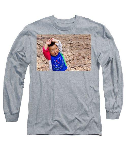 Chinese Boy Joy Long Sleeve T-Shirt