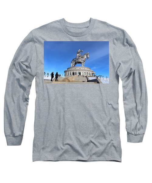 Chinggis Khan Statue/tsagaan Sar Long Sleeve T-Shirt