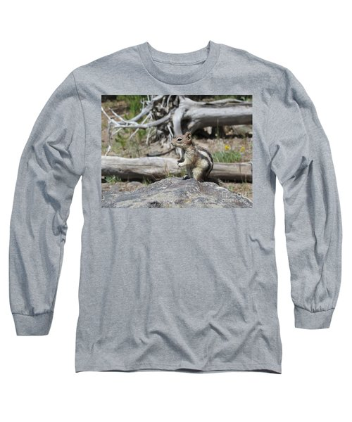 Chipmunk At Yellowstone Long Sleeve T-Shirt