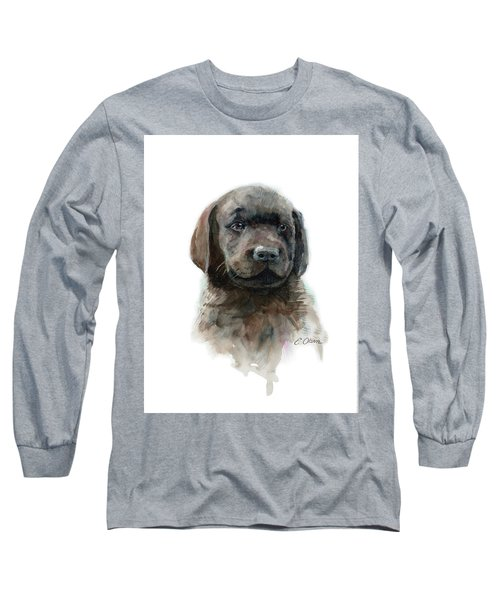 Chocolate Lab Puppy Long Sleeve T-Shirt