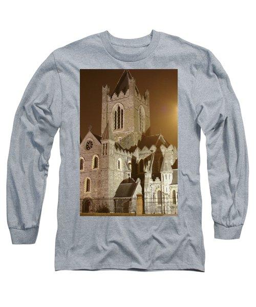 Christ Church Dublin Ireland Long Sleeve T-Shirt by Henri Irizarri