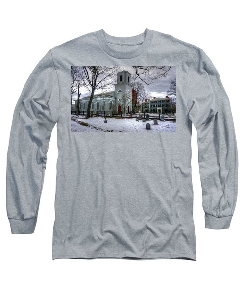 Long Sleeve T-Shirt featuring the photograph  Christ Church In Cambridge by Wayne Marshall Chase